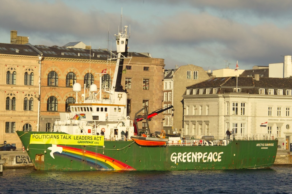 Christianhavn, Greenpeace moored in the harbor