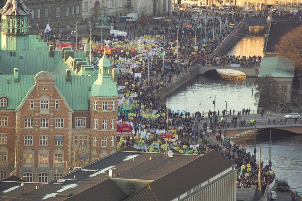 Christianhavn, protest chaos